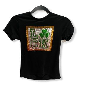 St. Patrick's day sequin graphic tee size x-small